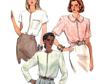 Vogue Sewing Pattern 7972 Misses' Petite Blouse  Size:  14-16-18  Uncut