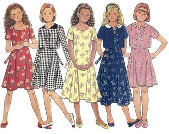 Butterick Sewing Pattern 4362 Girls' Jacket and Dress  Size:  7-8-10  Used