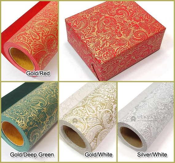 Items similar to 13m 1roll gold or silver foil high for Silver foil paper craft