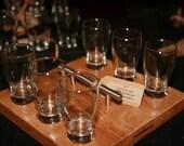6-Glass Beer Flight w/ Handle