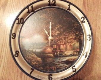 Schwan's tin clock