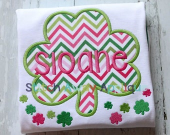 Simple Shamrock St. Patrick's Day Machine Applique Design