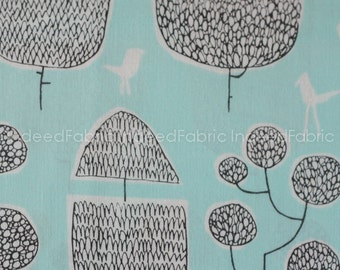 15% Off // Tokoyo Trees Turquoise, Yoyogi Park from Cloud 9 Fabrics, Certified Organic Cotton Fabric, Quilting Weight