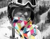 Ski Mask Face neck warmer gaiter for skiing bandanna walking, running, biking, riding,  motorcycle mask, dog walking - Technibloks 053