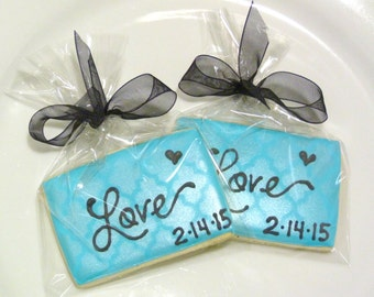 Custom Decorated Gourmet Elegant Damask Love Sugar Cookie Favors Wedding Cookie Save the Date Cookie Engagement Cookie Valentine Cookie