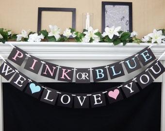 gender reveal banner,chalkboard baby shower decoration, reveal party banner, baby shower banner, Baby Shower Banner, boy or girl banner