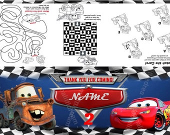 Disney Cars Snack Editable Tag