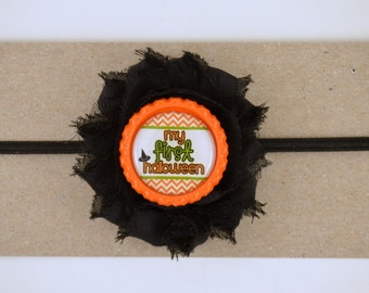 1st Halloween Headband - First Halloween Headband - My First Boo Day - Newborn Headband - Baby Headband - Baby's First Halloween Costume