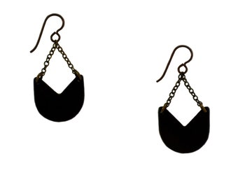 Fulton Earrings - handmade geometric chain earrings