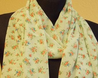 """Silk chiffon scarf  """"CLARISSE"""" -  scarf for women -  scarves"""