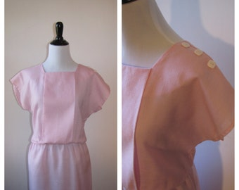 Vintage 1980s Avon Fashions Pink Day Dress