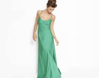 Green Bridesmaid Dress, Prom Dress, Maxi Party Dress