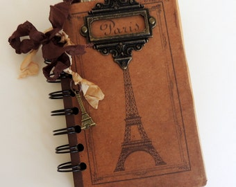 Paris Journal, Paris Travel Journal, Bon Voyage Gift, I Love Paris Journal, Trip to France Gift, France Travel Journal