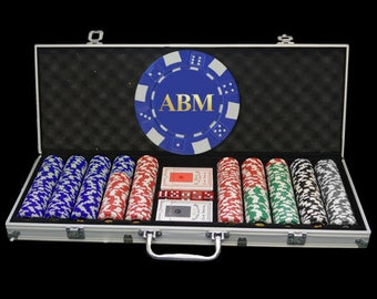 500 Personalized Poker Chip Set - Great Holiday Gift!