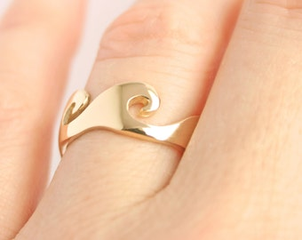 Wave Ring Ocean Wave Ring Alternative Wedding Ring Alternative Wedding Band Wave Trending Jewelry Gold Wave Ring His Hers unique Wedding