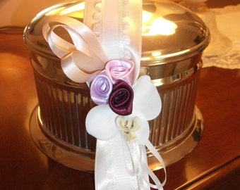 Rose satin tassel and cords