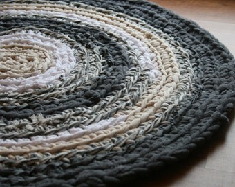 High Quality Handmade Crochet Round Rag Rug, Handmade Rug, Cotton Throw Rug, Nursery Rug,