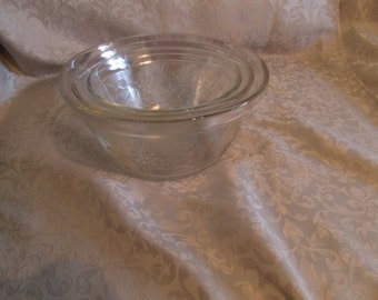 Vintage Set Of Three Floral Mixing Bowls