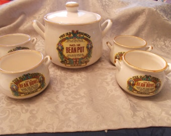 Vintage 1994 Old Farmers Almanac - Bean Pot Including Four Serving Bow;s