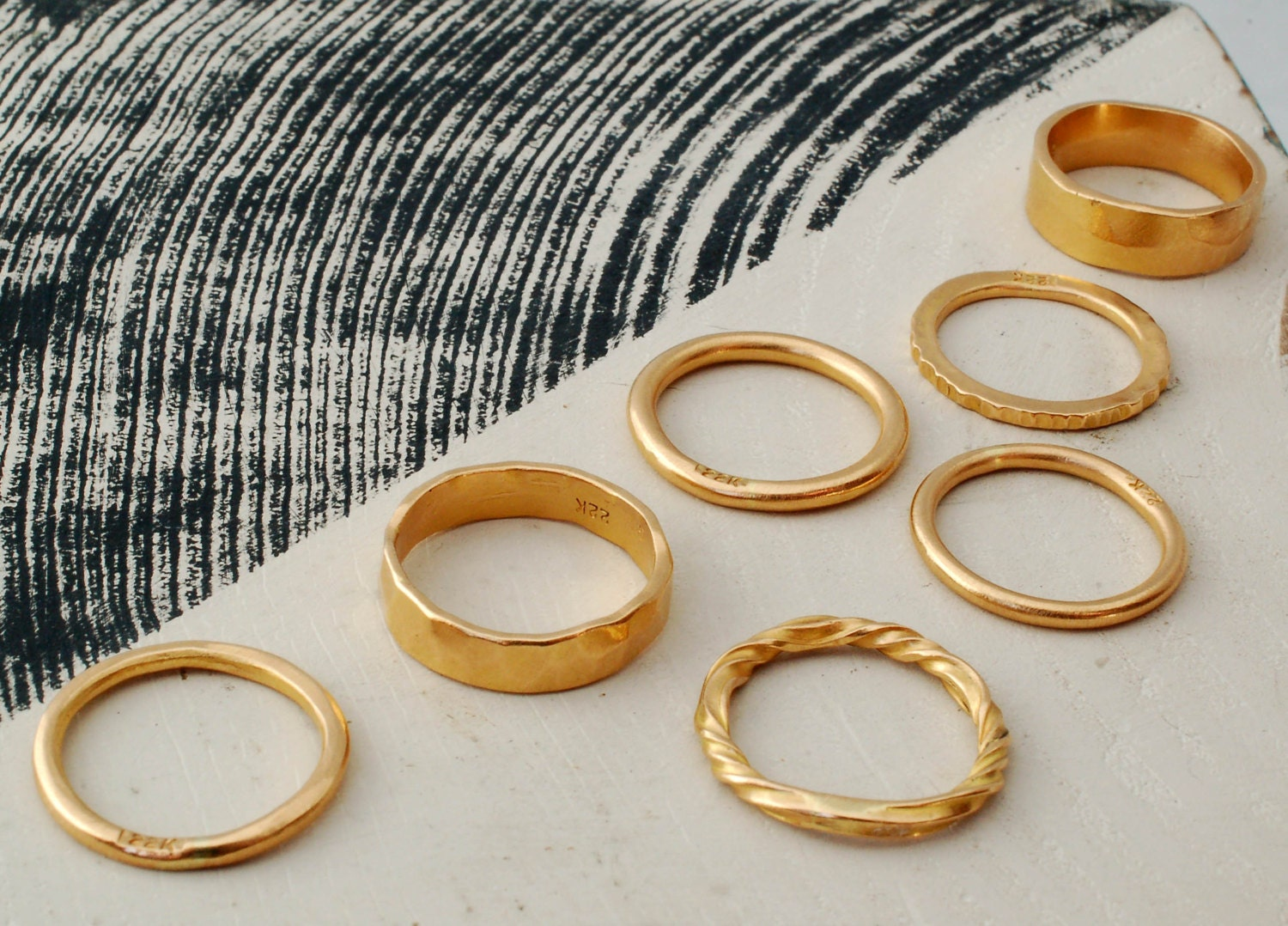 delicate forged rings p