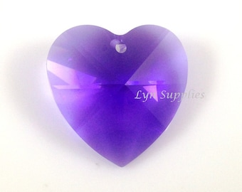 28mm 8781 BLUE VIOLET Swarovski Crystal Strass Large Heart Pendant
