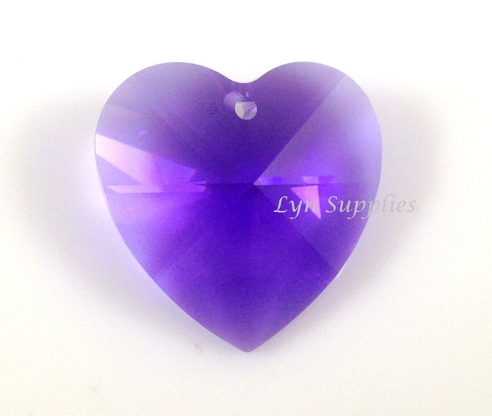28mm 8781 Blue Violet Swarovski Crystal Strass Large Heart