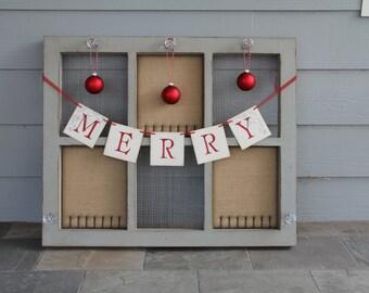 Merry banner • Christmas banner • Christmas garland