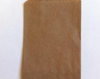 "25 Brown Little Bitty Bags (2.75"" x 4"")"