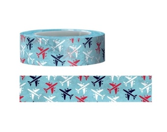 Airplane washi Tape  -Christmas Washi tape series--Deco tape-- 15mm x 15M