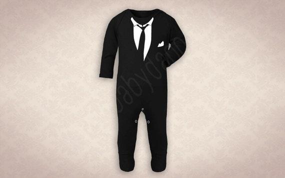 The Michael B Suit Amp Tie Onesie A Dapper Alternative To