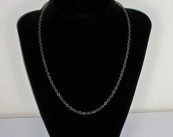 "18"" Antique Bronze Jewelry Chain"