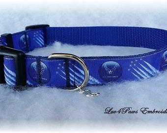 U.S. Air Force Adjustable Dog Collar #2 with Charm