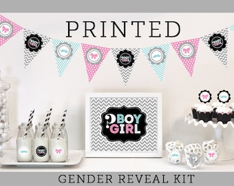 Gender Reveal Party Kit for Gender Reveal Party - Gender Reveal Party Ideas Gender Reveal Party Decorations (EB4000BYGR)