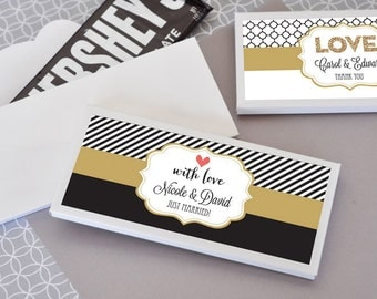Chocolate Bar Wrapper Personalized Chocolate Bar Chocolate Bar Labels COVER Custom Chocolate Bar Chocolate Wedding Favor (EB4001T) set of 24