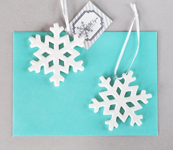 snowflake wedding favors winter wedding favors by modparty