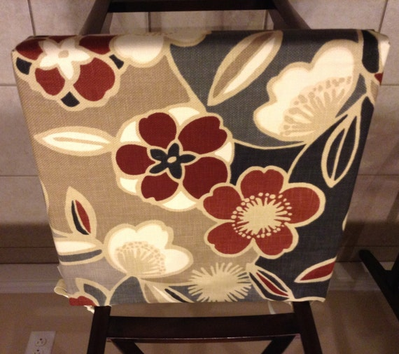 Seat cushion cover kitchen chair pad cover formal dining chair seat