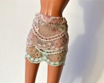 Barbie dress, Lace mini skirt (stretch)