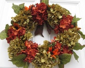 THANKSGIVING FLORAL WREATH...Holiday Decor Wreath..Fall Wreath..Front Entryway Wreath..Front Door Wreath..Porch Decor Wreath.Interior Wreath