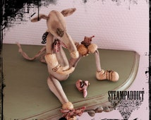 "Rat figurine Steampunk ""Julie-La gardienne du cœur"""