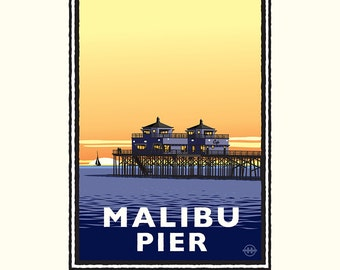 Landmark CA | Malibu Pier Sunset by Mark Herman