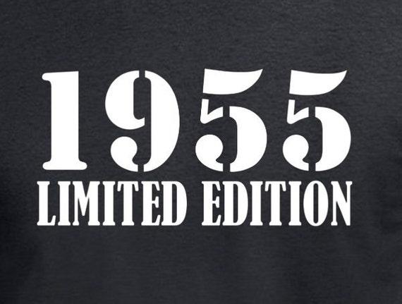 hnliche artikel wie 60 geburtstag geschenk t shirt f r vater mann 1955 limited edition 60. Black Bedroom Furniture Sets. Home Design Ideas