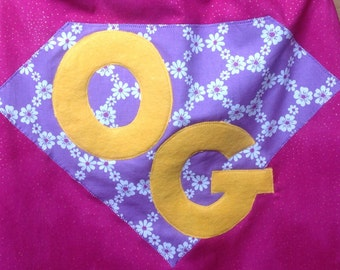 ADD an EXTRA INITIAL to Personalized Super Hero Cape
