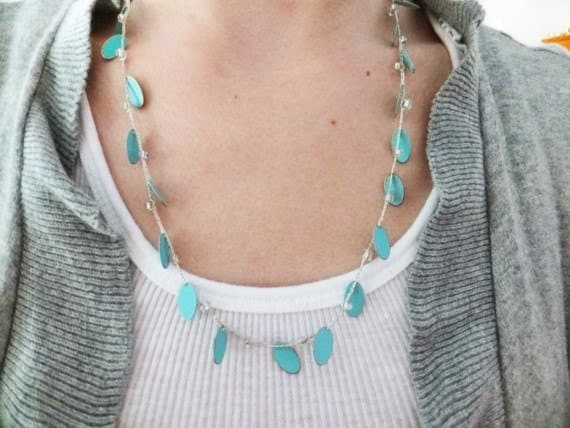 Braided Blue Oval Necklace, Earrings, and Bracelet Set