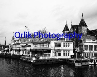 Photo of Amsterdam (The Netherlands), black and white