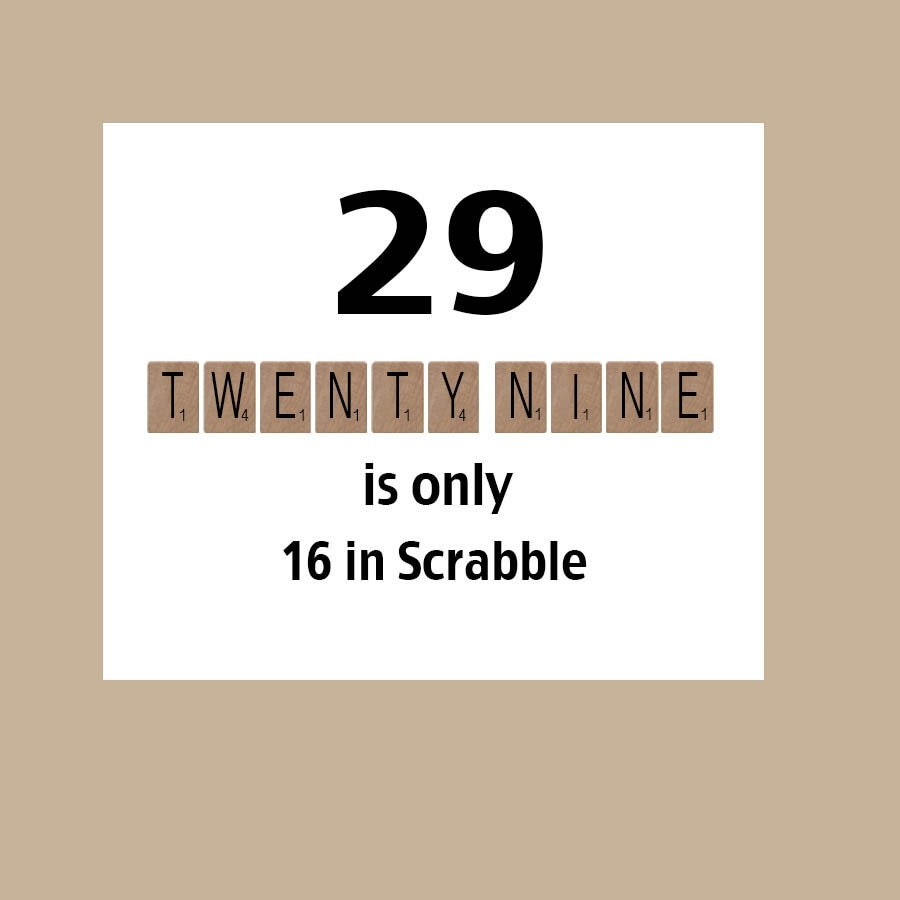29th Birthday Card 29 Again Card Funny By DaizyBlueDesigns