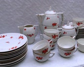 1930s art deco breakfast service from Czechoslovakia 33 pieces