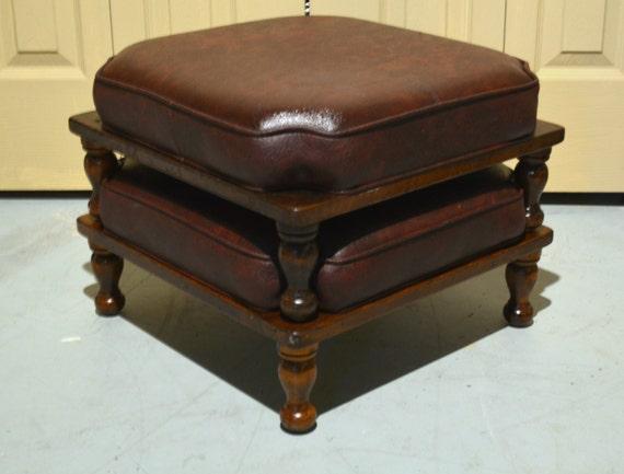 Man Cave Ottoman : Stacking footstools ethan allen stools mid century mod