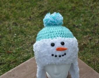 Snowman Hat - aqua