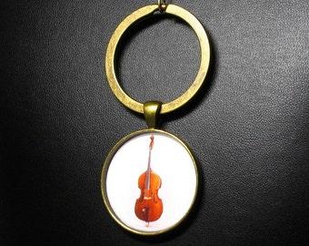 Upright Bass Key-Chain