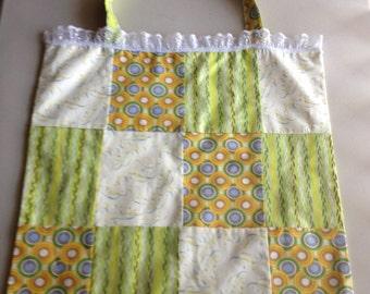 Handmade Large Multi-Color Patchwork Tote Bag